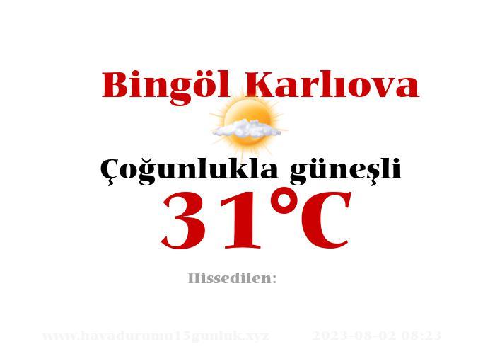 Hava Durumu Bingöl Karlıova