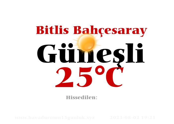 Hava Durumu Bitlis Bahçesaray