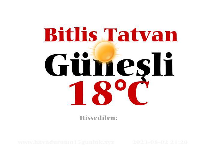 Hava Durumu Bitlis Tatvan