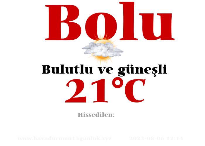 Hava Durumu Bolu