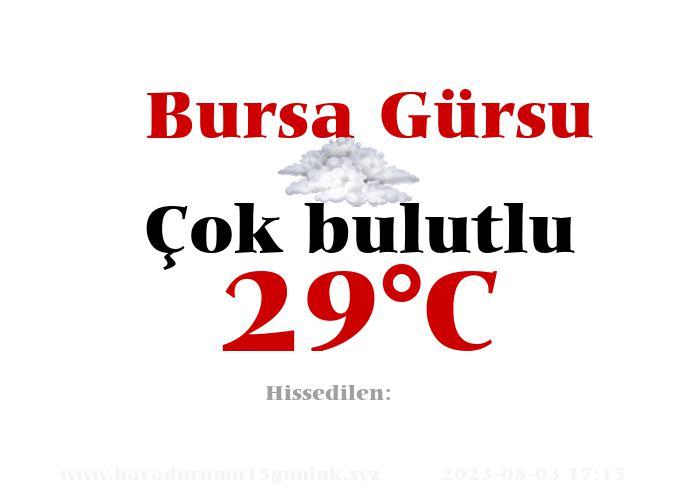 Hava Durumu Bursa Gürsu