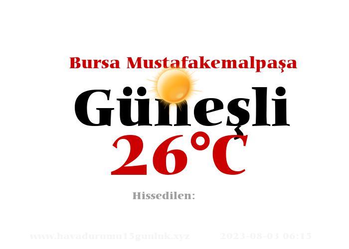 Hava Durumu Bursa Mustafakemalpaşa