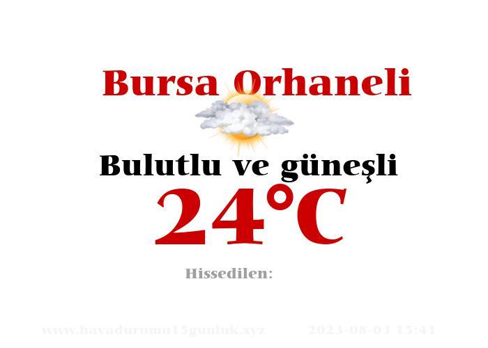 Hava Durumu Bursa Orhaneli