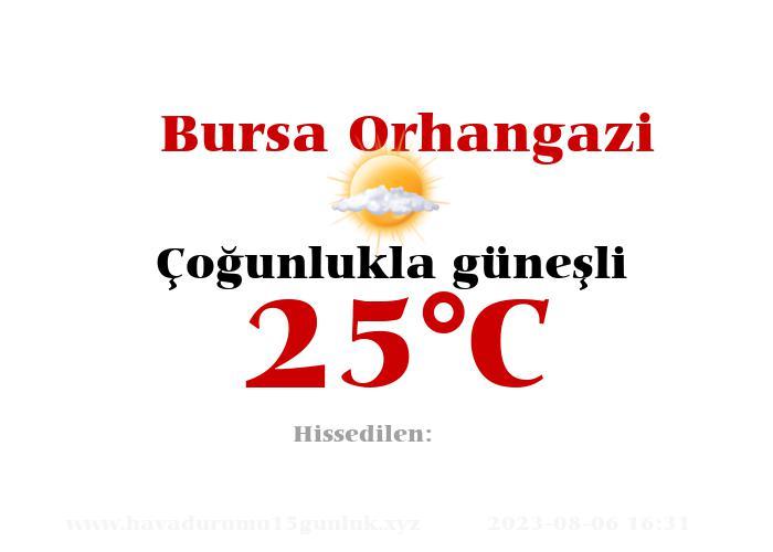 Hava Durumu Bursa Orhangazi