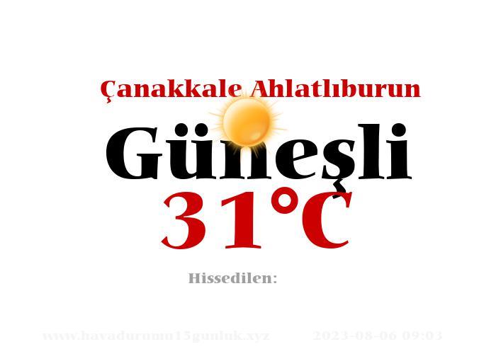 Hava Durumu Çanakkale Ahlatlıburun