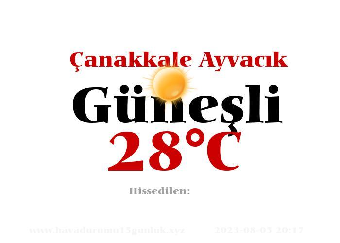 Hava Durumu Çanakkale Ayvacık