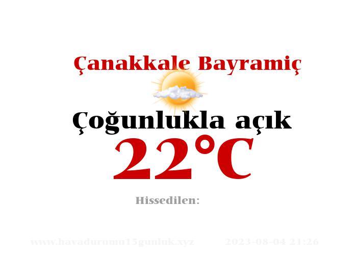 Hava Durumu Çanakkale Bayramiç