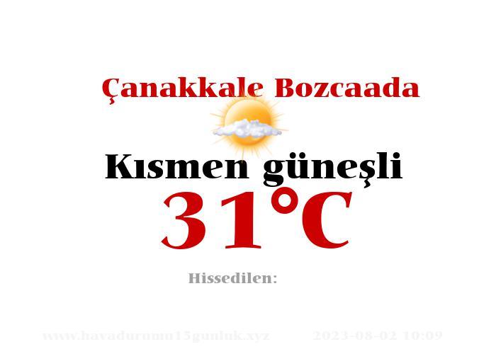 Hava Durumu Çanakkale Bozcaada