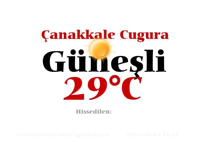 Hava Durumu Çanakkale Cugura