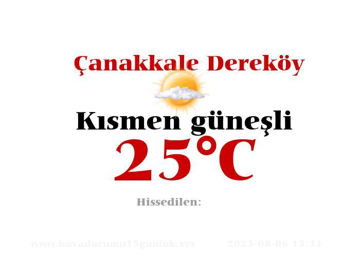 Hava Durumu Çanakkale Dereköy