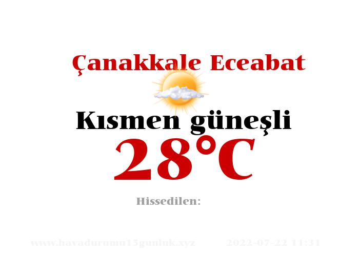 Hava Durumu Çanakkale Eceabat