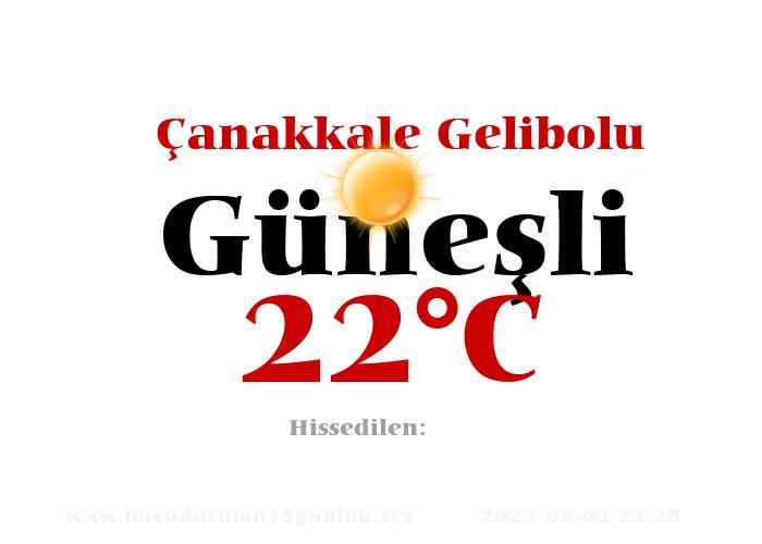Hava Durumu Çanakkale Gelibolu