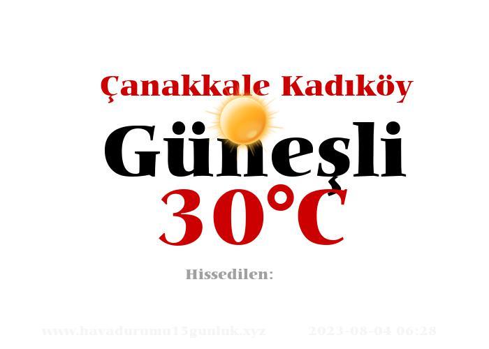 Hava Durumu Çanakkale Kadıköy