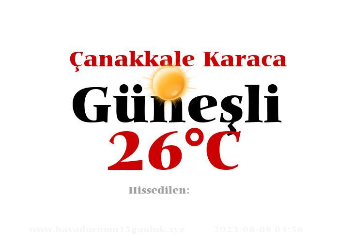 Hava Durumu Çanakkale Karaca
