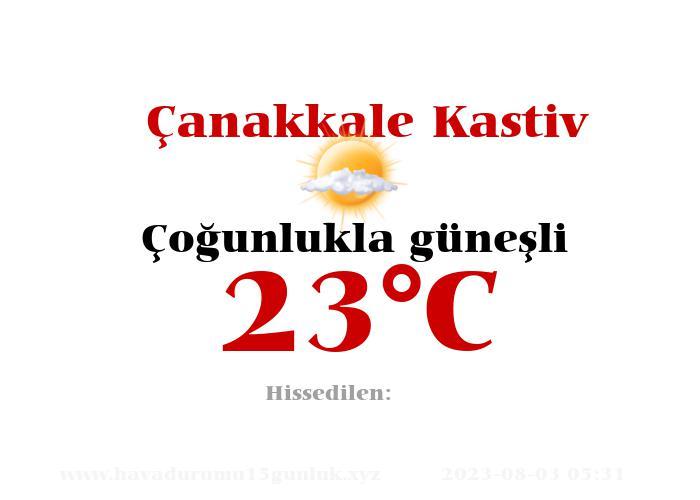 Hava Durumu Çanakkale Kastiv