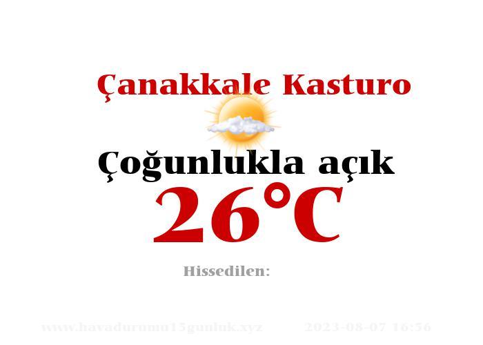 Hava Durumu Çanakkale Kasturo