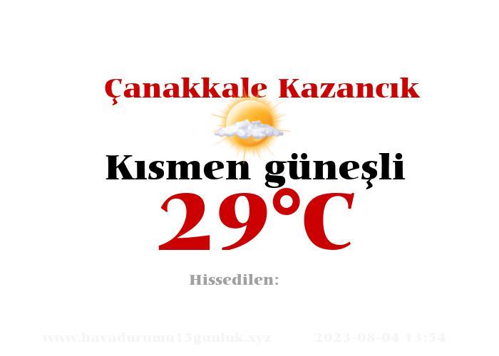 Hava Durumu Çanakkale Kazancık