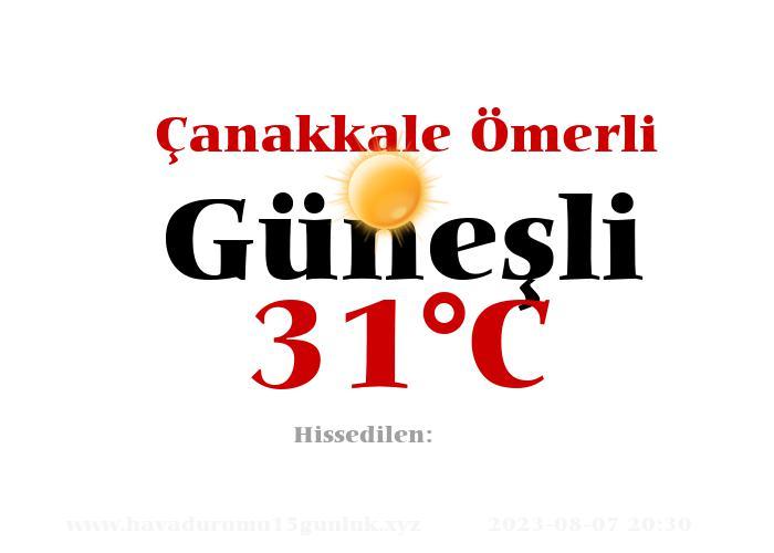 Hava Durumu Çanakkale Ömerli