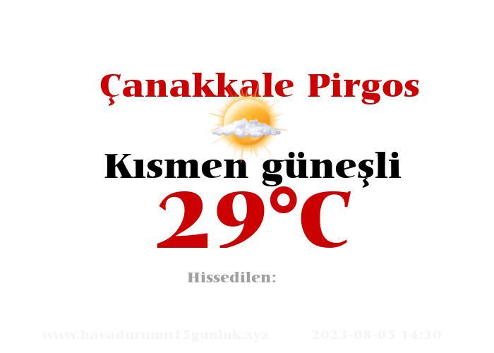 Hava Durumu Çanakkale Pirgos