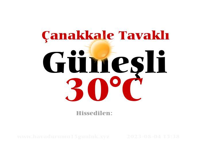 Hava Durumu Çanakkale Tavaklı