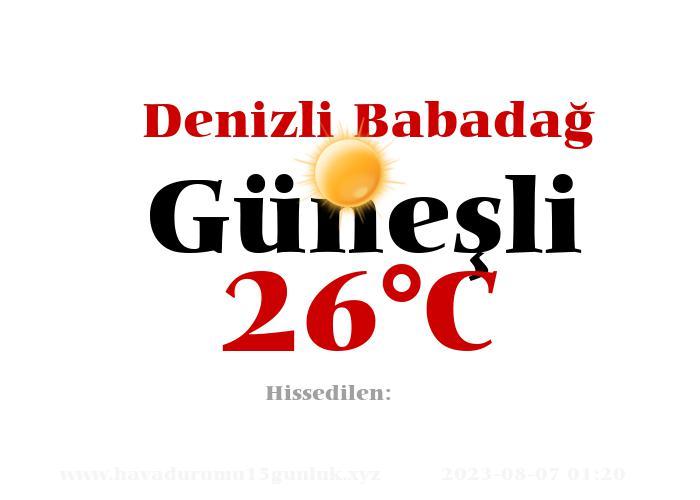 Hava Durumu Denizli Babadağ