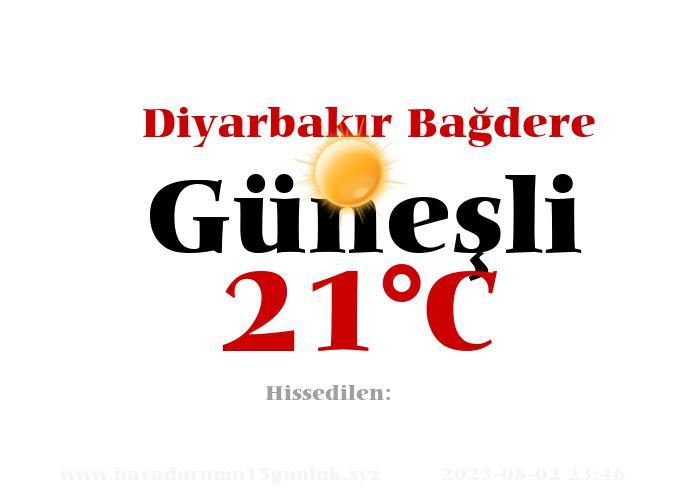 Hava Durumu Diyarbakır Bağdere