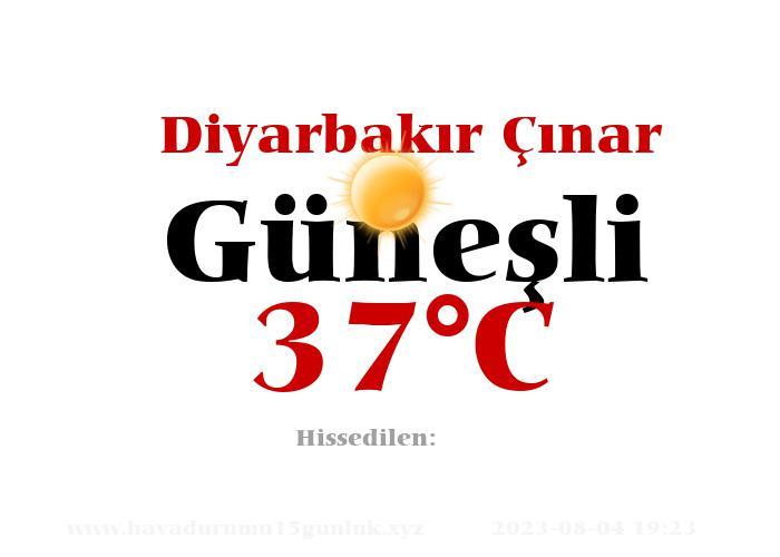 Hava Durumu Diyarbakır Çınar