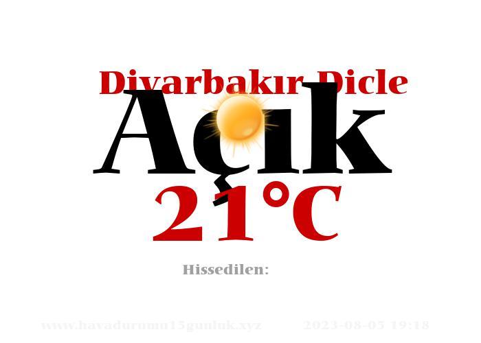 Hava Durumu Diyarbakır Dicle