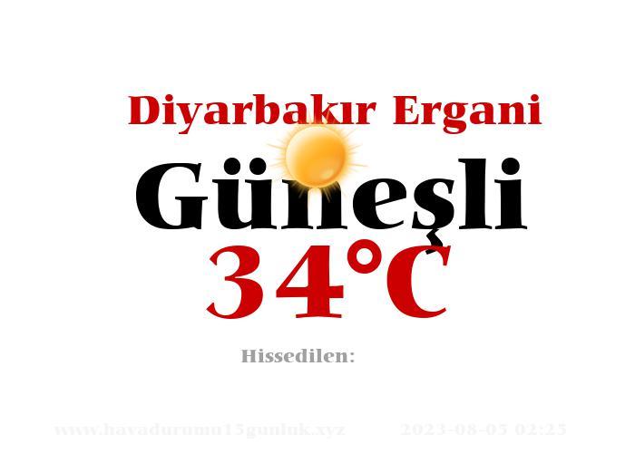 Hava Durumu Diyarbakır Ergani