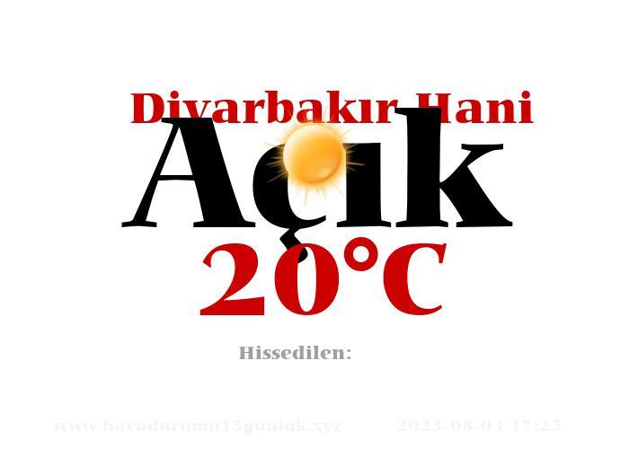 Hava Durumu Diyarbakır Hani
