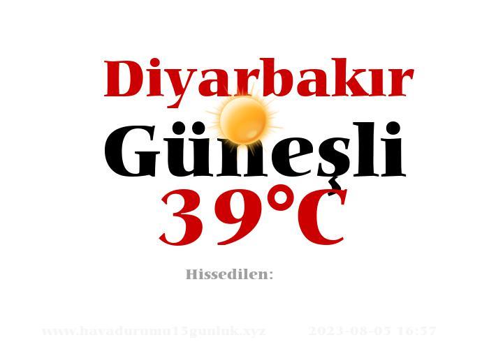 Hava Durumu Diyarbakır