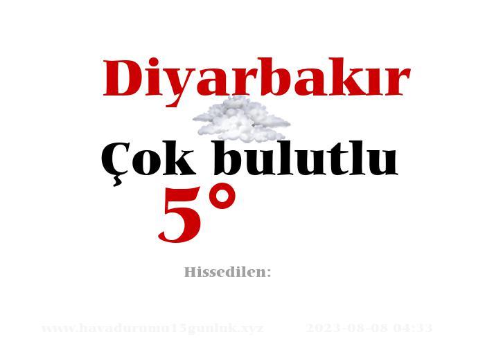 Diyarbakır Hava Durumu