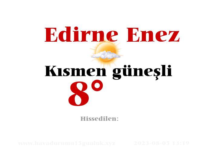 Edirne Enez Hava Durumu