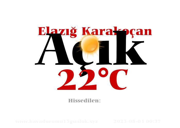 Hava Durumu Elazığ Karakoçan