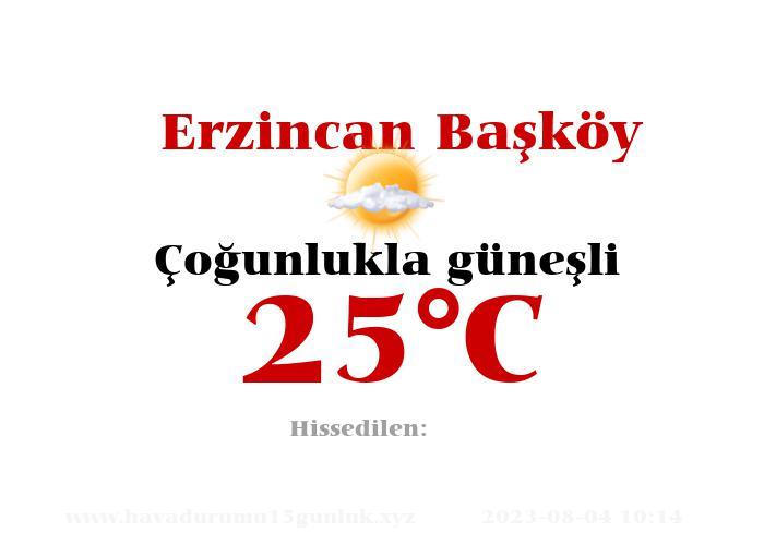 Hava Durumu Erzincan Başköy