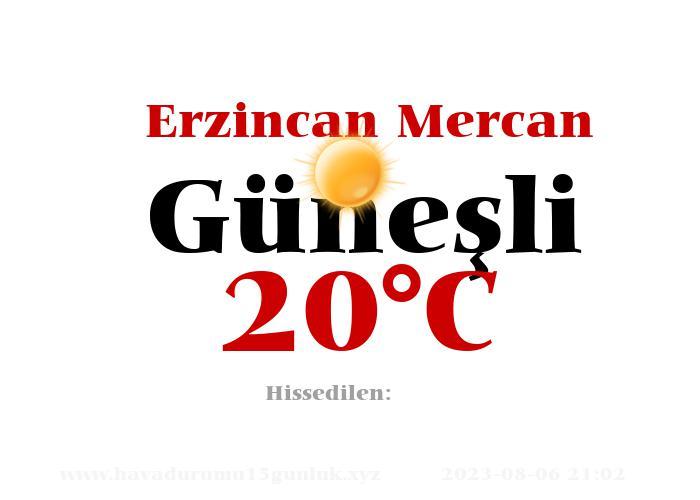 Hava Durumu Erzincan Mercan