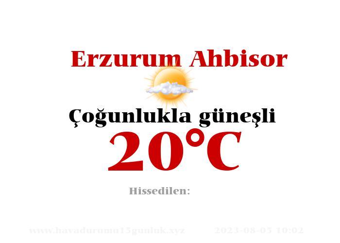 Hava Durumu Erzurum Ahbisor