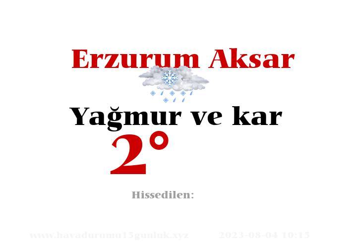 erzurum-aksar hava durumu