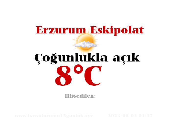 Hava Durumu Erzurum Eskipolat