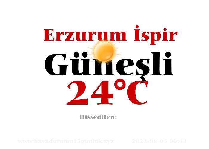 Hava Durumu Erzurum İspir
