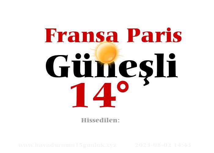 fransa-paris hava durumu