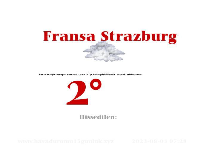 Fransa Strazburg Hava Durumu