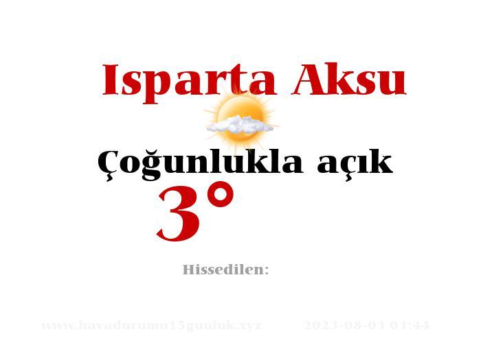 isparta-aksu hava durumu