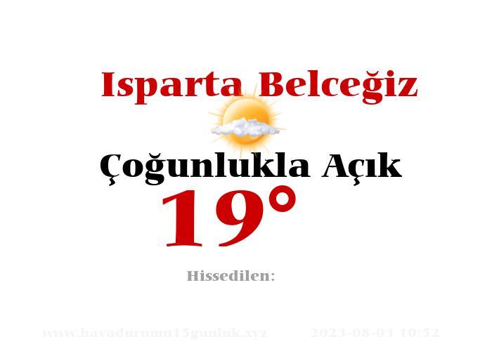 isparta-belcegiz hava durumu