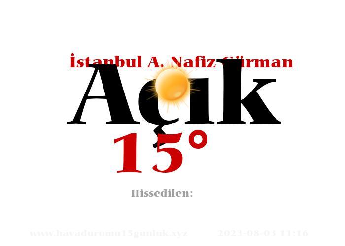 istanbul-a--nafiz-gurman hava durumu