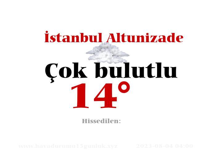 İstanbul Altunizade Hava Durumu