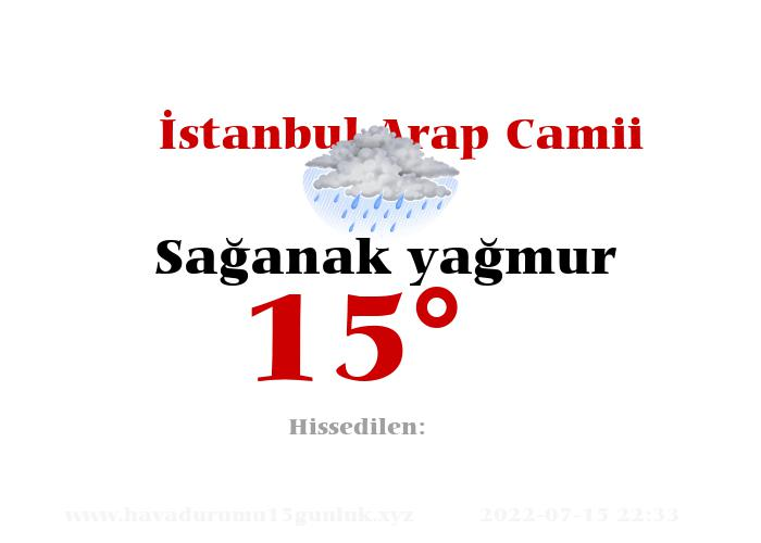 İstanbul Arap Camii Hava Durumu