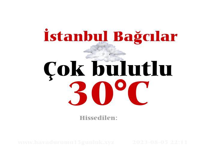 Hava Durumu İstanbul Bağcılar