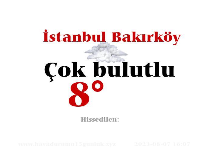 İstanbul Bakırköy Hava Durumu