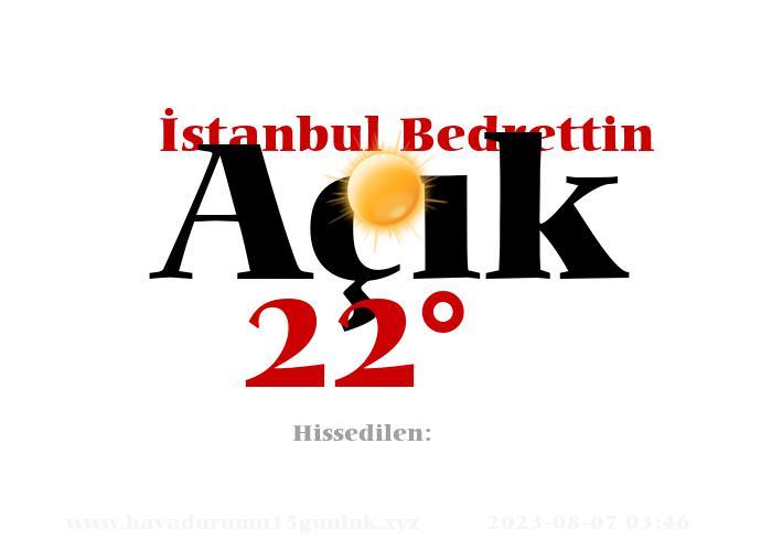 istanbul-bedrettin hava durumu